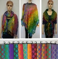 Pashmina with Fringe [Colorful Polka Dots]